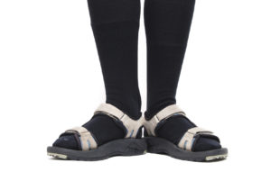 black socks with sandals